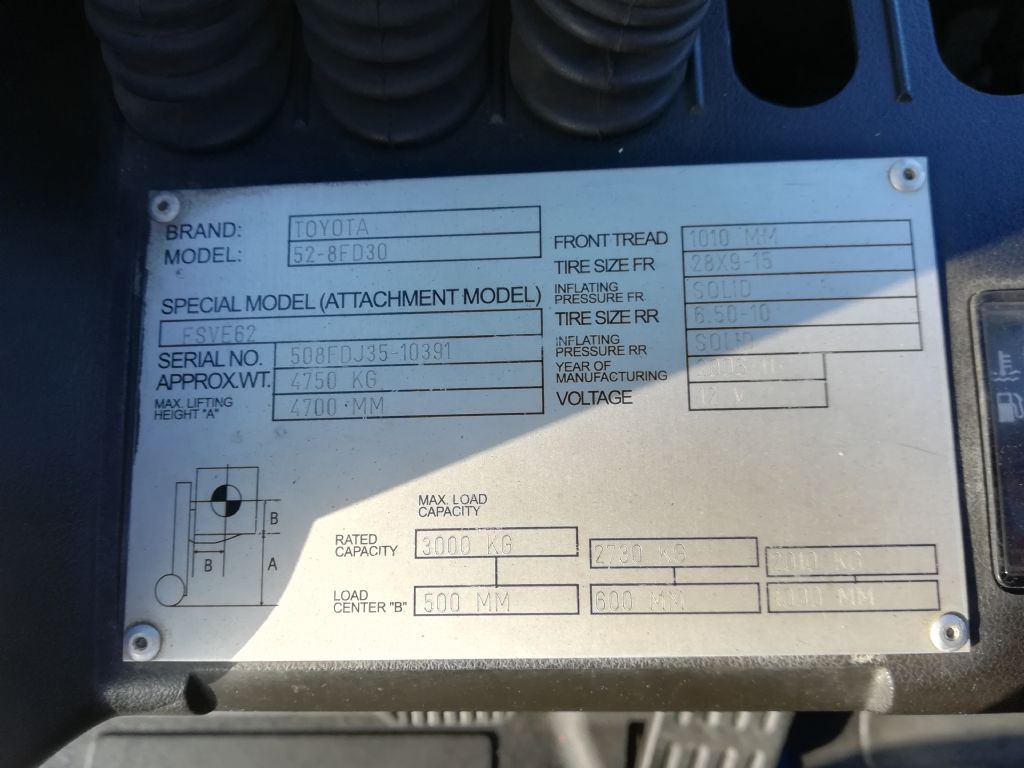Toyota 8 FDF 30 Triplex Dieselstapler www.huh-staplerservice.at