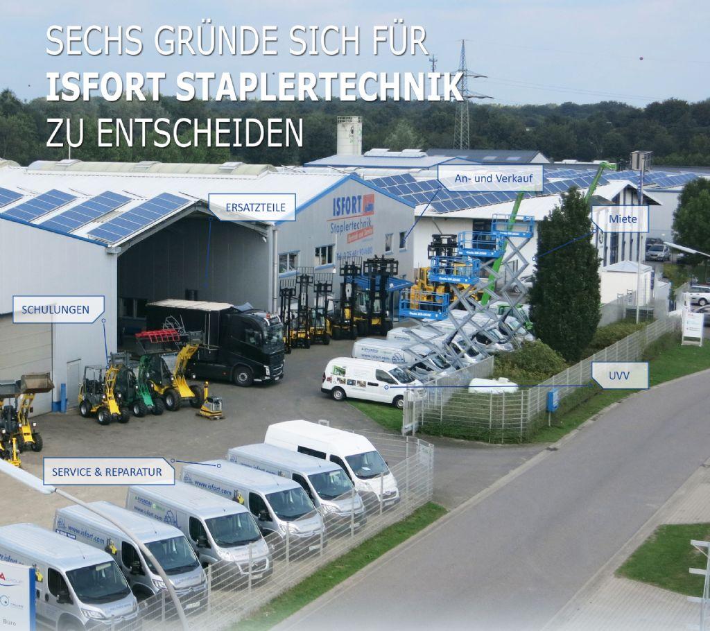 Stabau-Zinkenverstellung mit Telegabeln-Zinkenverstellgerät -www.isfort.com