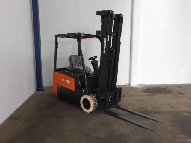 Doosan-B18T-7-Elektro 3 Rad-Stapler -www.isfort.com