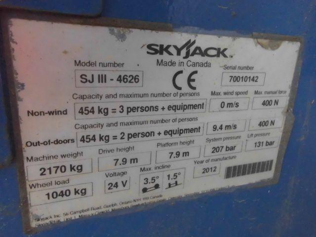 Skyjack-SJ III - 2646-Scherenarbeitsbühne -www.isfort.com