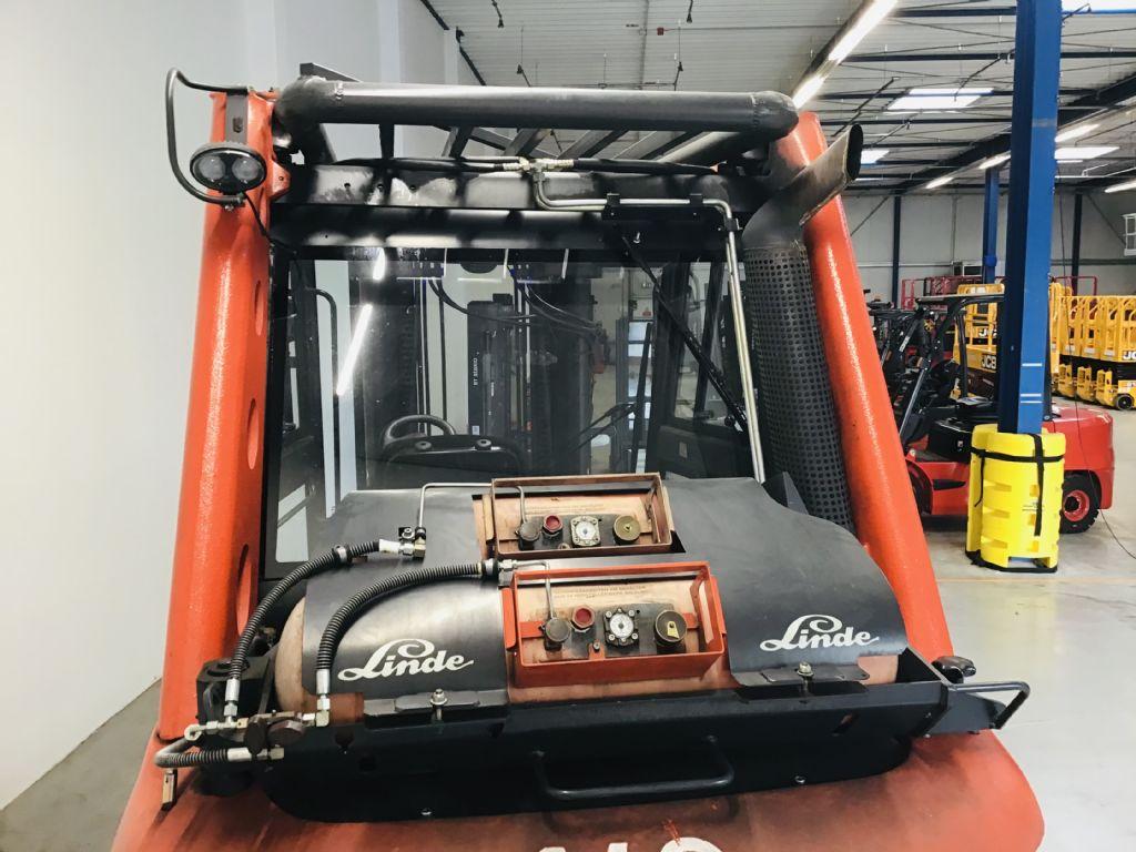 Linde-H60T-02 / TRIPLEX 5,6m -Treibgasstapler -www.isfort.com