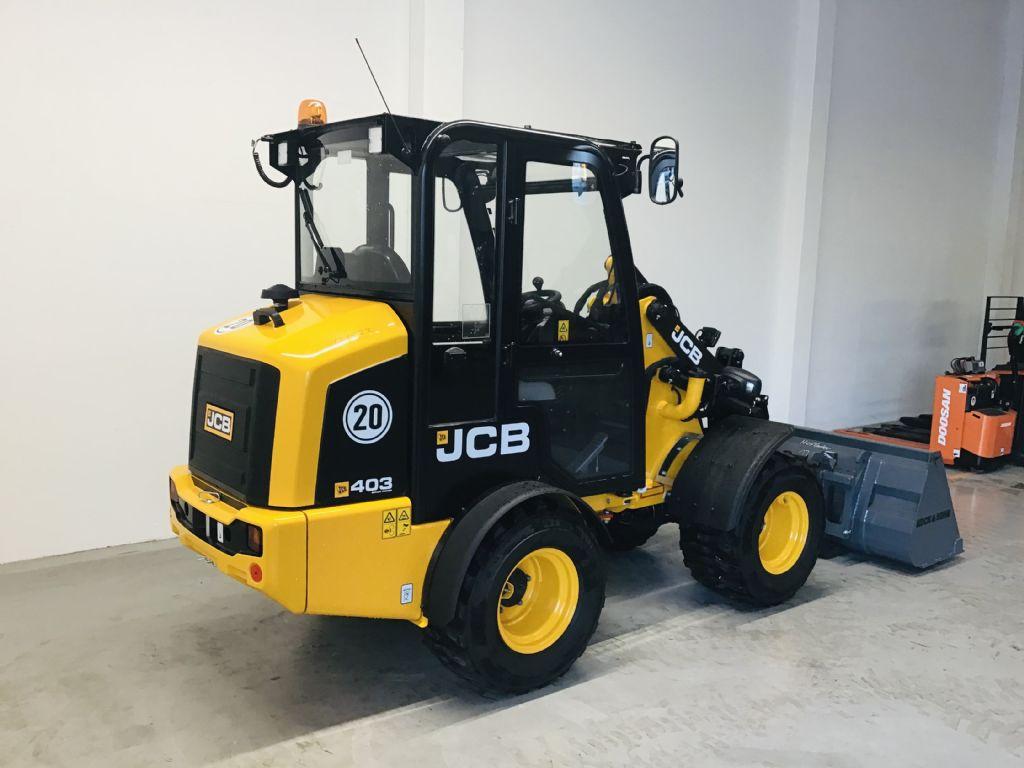 JCB-403 Hoflader inkl. Schaufel u. Gabeln -Radlader -www.isfort.com