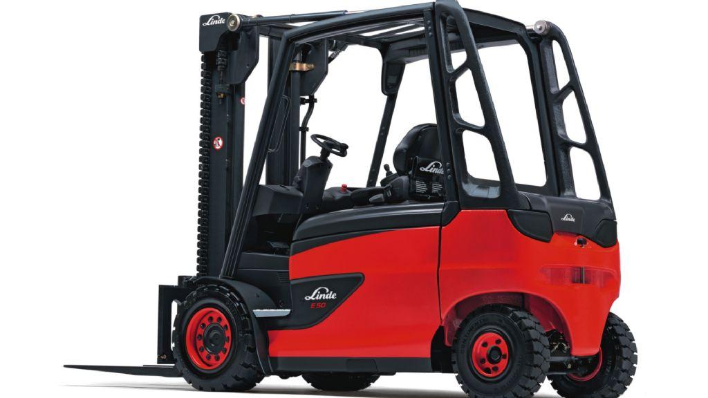 Linde E50HL Elektro 4 Rad-Stapler www.isfort.com