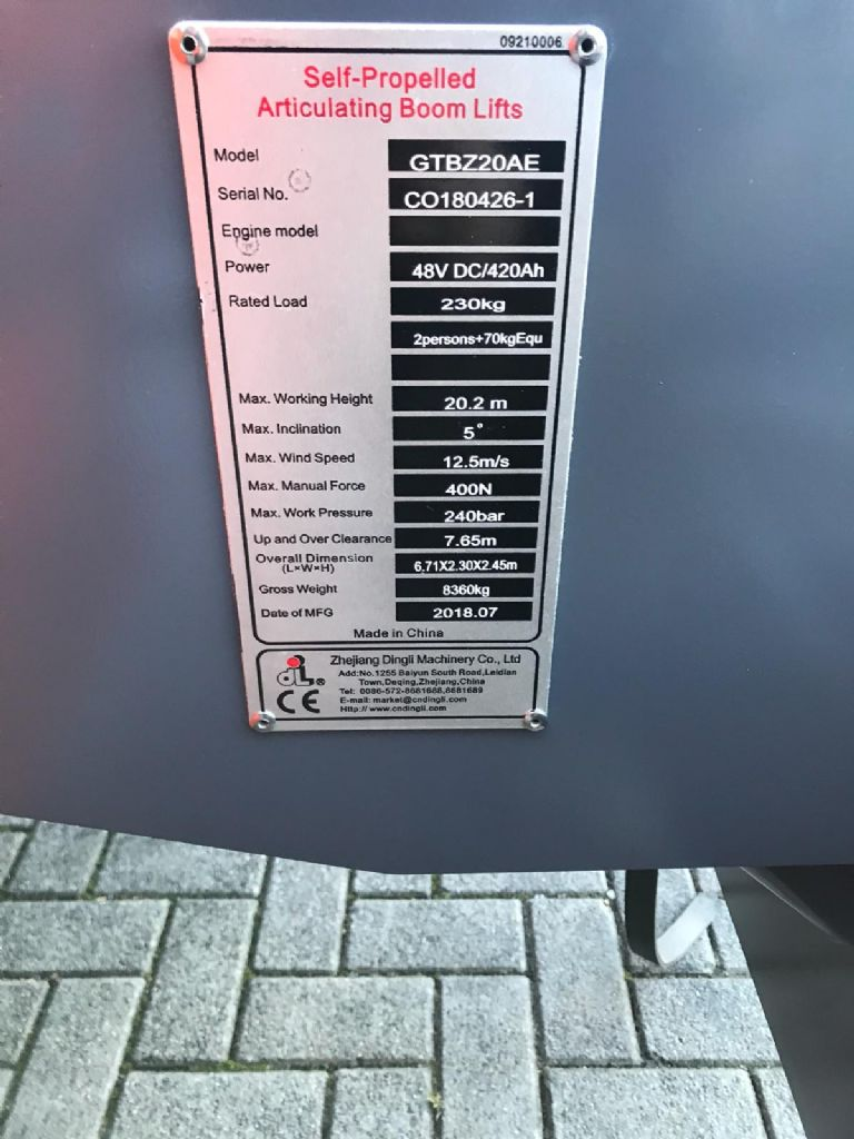 Dingli-GTBZ20AE-Gelenkteleskopbühne -www.isfort.com