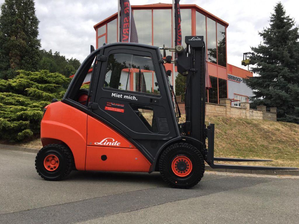 Linde H 35 T 393 Treibgasstapler www.staplerjena.de