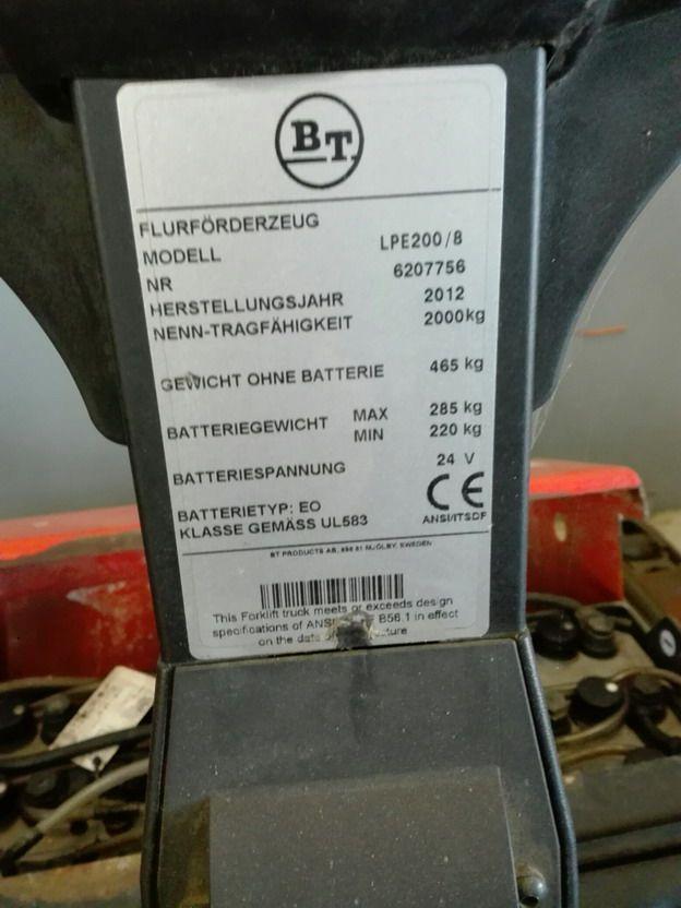 BT-LPE200-Niederhubwagen www.kirchner-gabelstapler.de