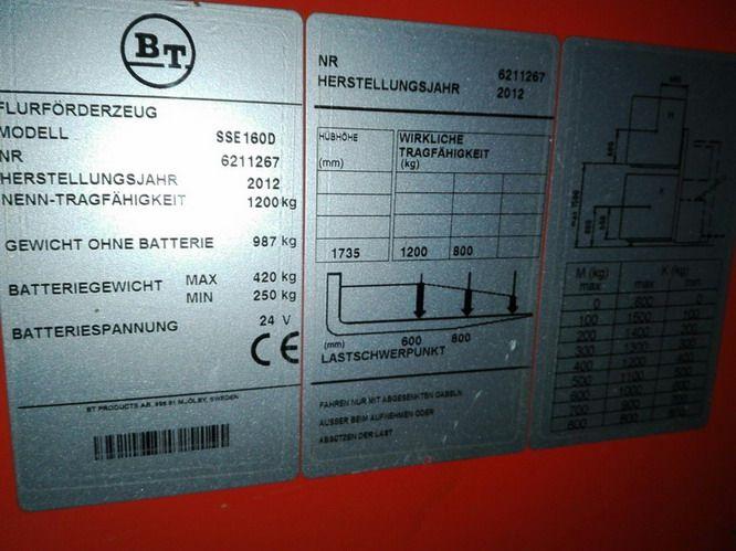 BT-SSE160D-Hochhubwagen www.kirchner-gabelstapler.de