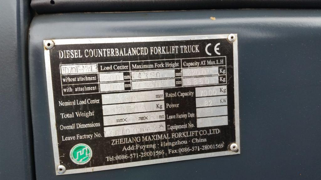 Maximal-FD 70 T-MWL3-Dieselstapler www.kirchner-gabelstapler.de