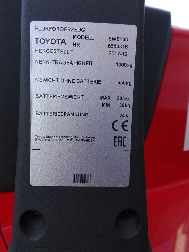 BT-SWE100-Hochhubwagen www.kirchner-gabelstapler.de