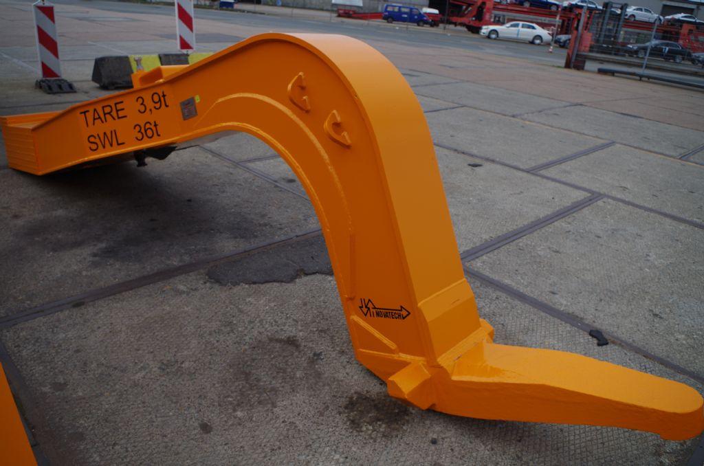 Wiking 1//87 nº 117 carretillas elevadoras naranja con hubgabel en blanco #4881