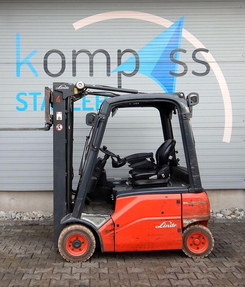 Linde E 16 P/386 Elektro 4 Rad-Stapler www.kompass-stapler.de