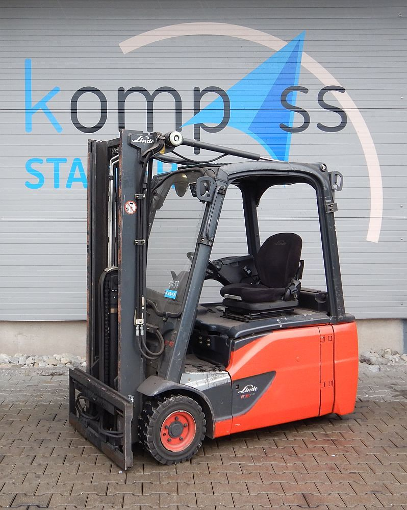 Linde E 16 L/386 Batterie 2018 Electric 3-wheel forklift www.kompass-stapler.de