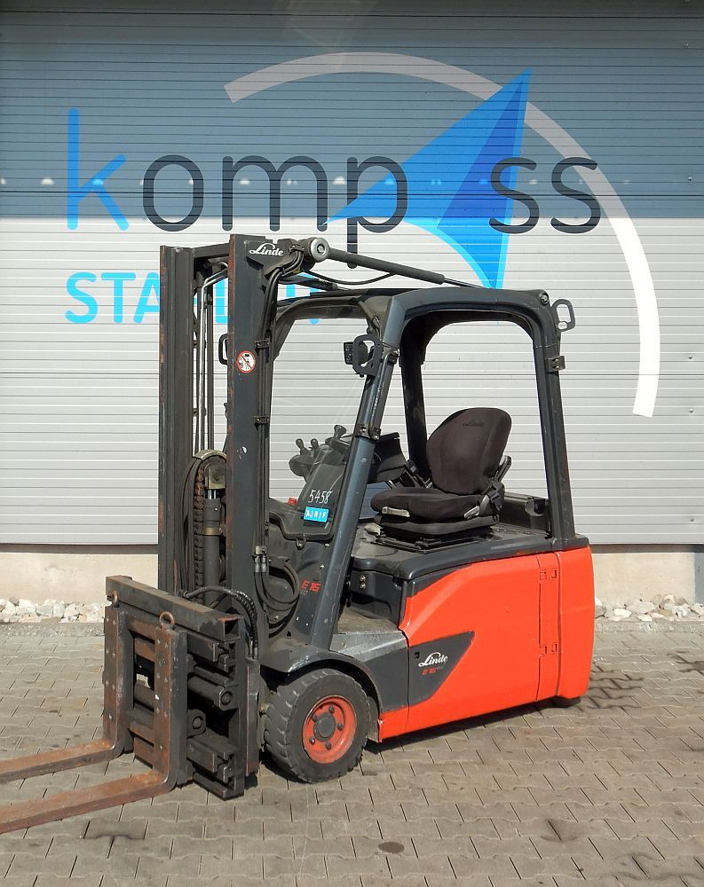 Linde E 16 L/386 GZ- Gesachraubt Electric 3-wheel forklift www.kompass-stapler.de