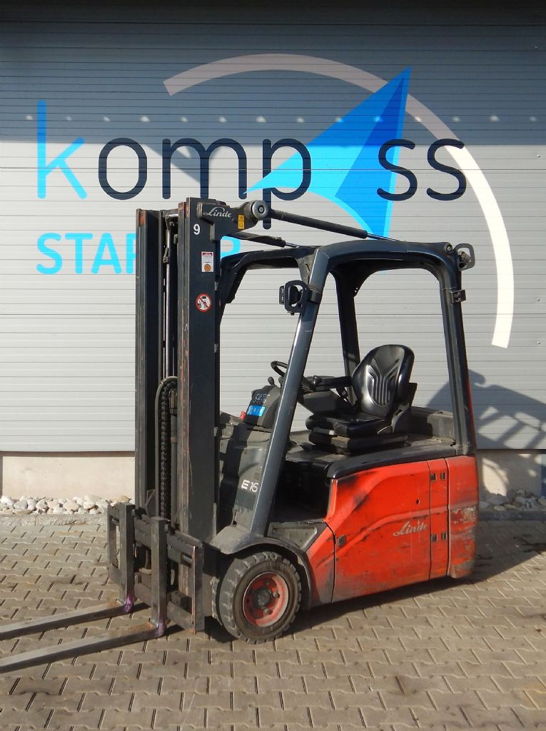Linde E 16/386 Electric 3-wheel forklift www.kompass-stapler.de