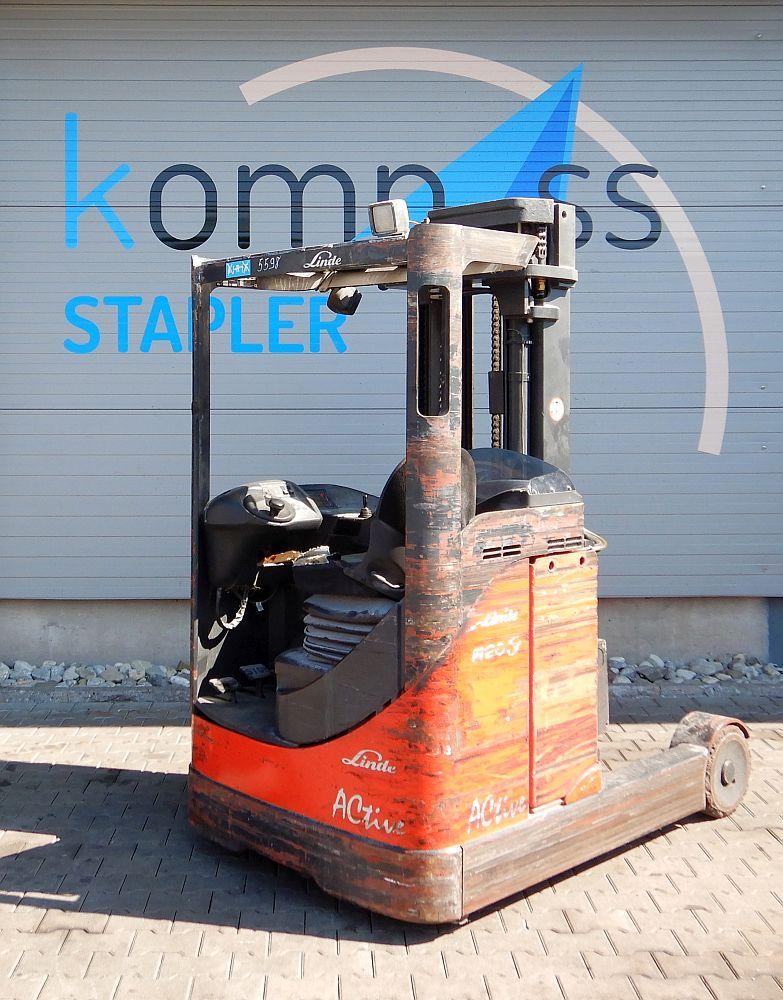Linde R 20 S/115 Reach Truck www.kompass-stapler.de