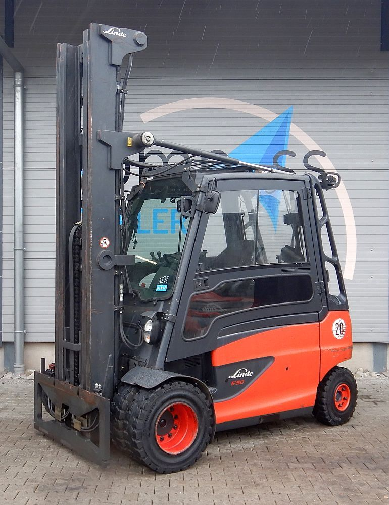 Linde E 50/600HL/388 Electric 4-wheel forklift www.kompass-stapler.de