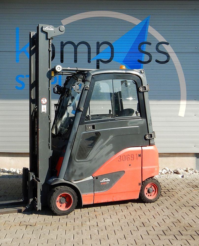 Linde E 20 PH/386 Electric 4-wheel forklift www.kompass-stapler.de