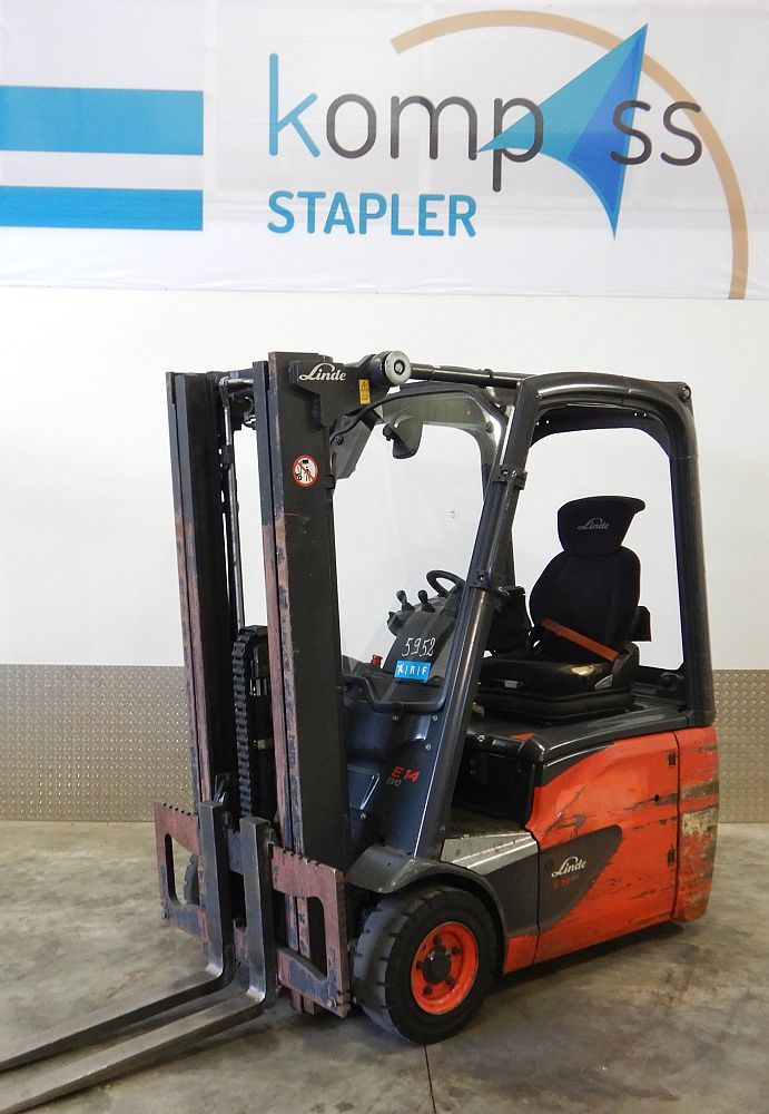 Linde E 14/386 Electric 3-wheel forklift www.kompass-stapler.de