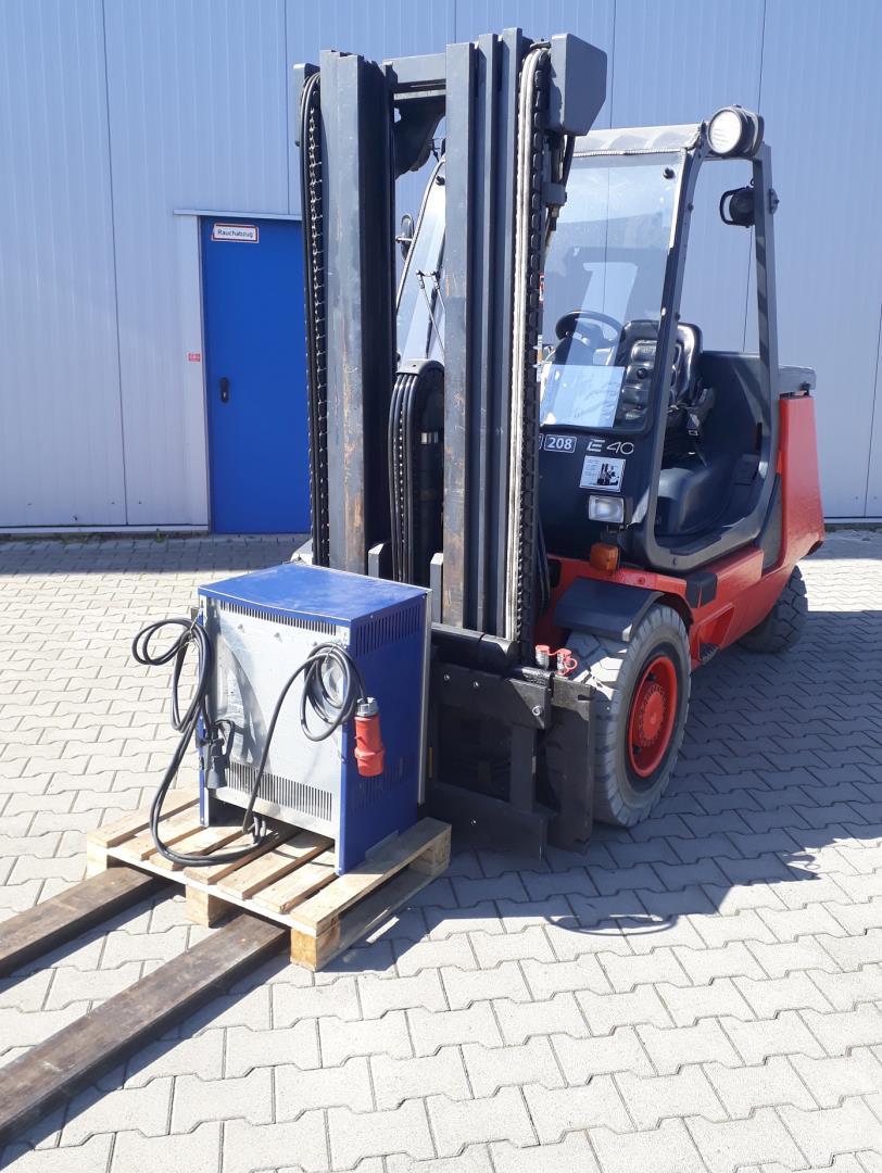 Linde E40P Elektro 4 Rad-Stapler www.kornetzki-gabelstapler.de