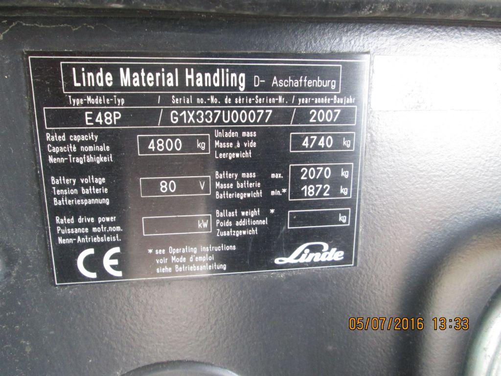 Linde-E 48 P-Elektro 4 Rad-Stapler-www.krause-salem.de