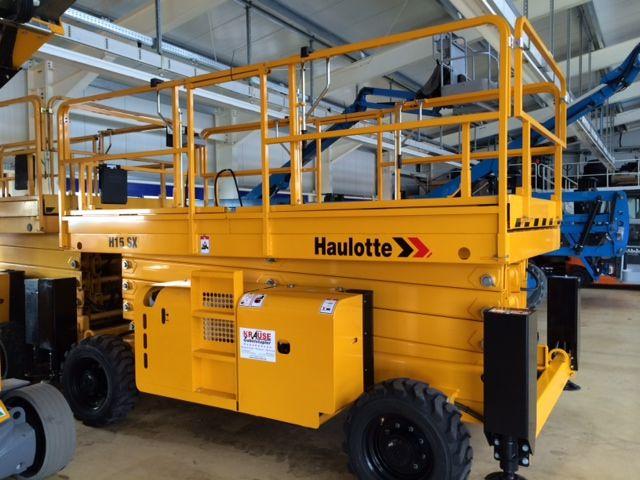 Haulotte-H 15 SX Gelände Scherenbühne-Scherenarbeitsbühne-www.krause-salem.de