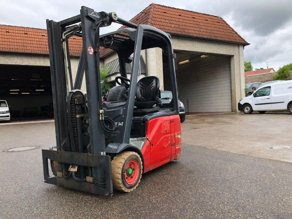 Linde-E 14 -Elektro 3 Rad-Stapler-http://www.k-trucks.de