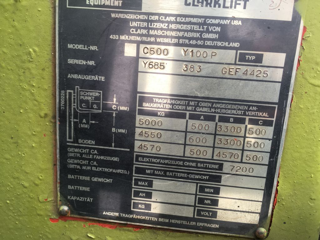 Clark C500 Y100P Dieselstapler www.lgr-lagertechnik.de