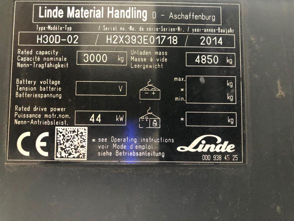 Linde H30D Dieselstapler www.contilift.de