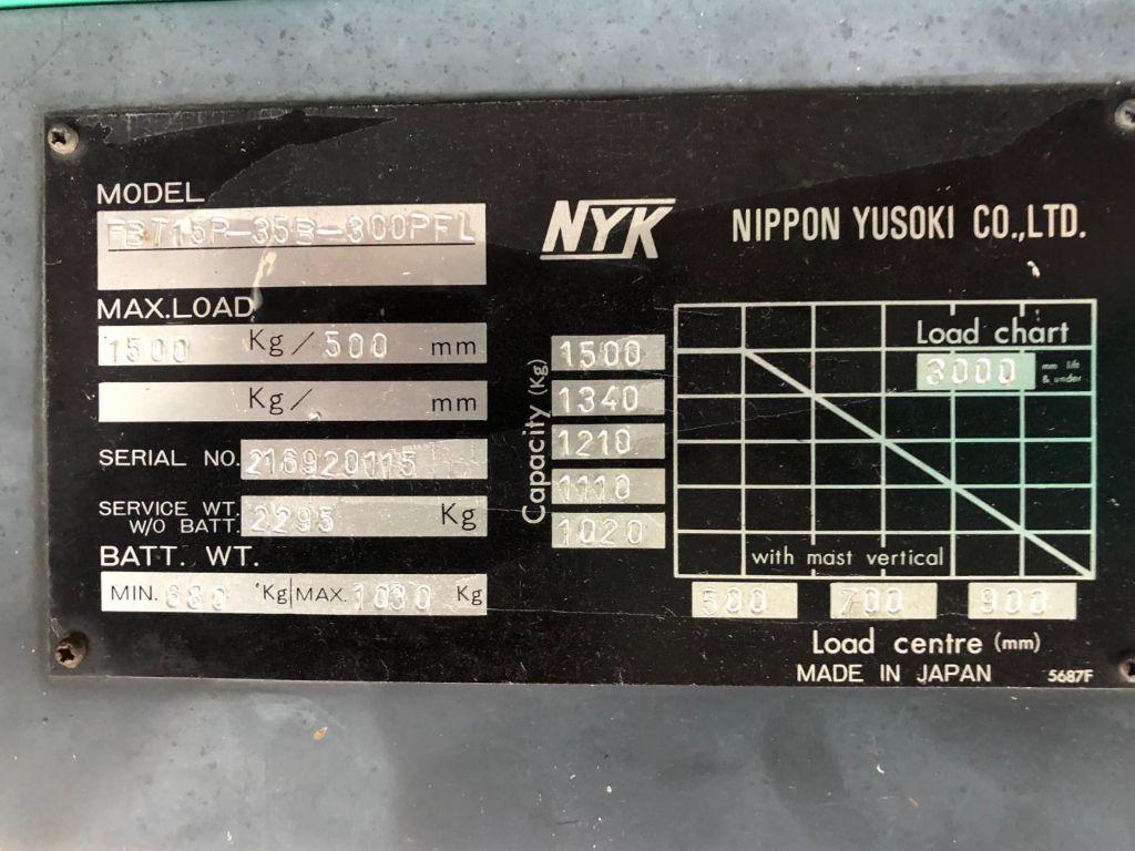 Mitsubishi-FBTI5P-35B-300PFL-Elektro 3 Rad-Stapler www.lifthandling.com
