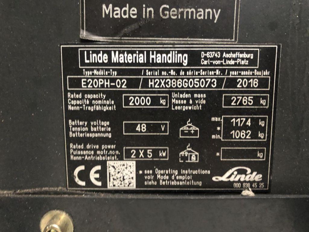 Linde-E20PH-Elektro 4 Rad-Stapler www.lifthandling.com