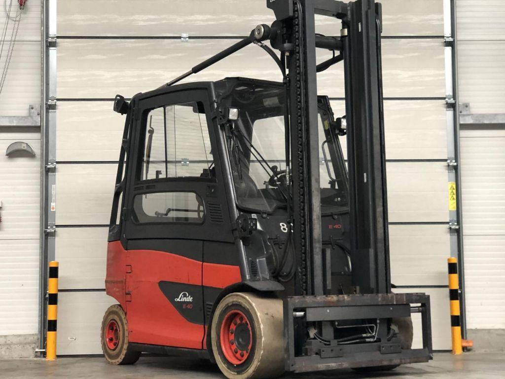 Linde-E40HL-01/600-Elektro 4 Rad-Stapler www.lifthandling.com