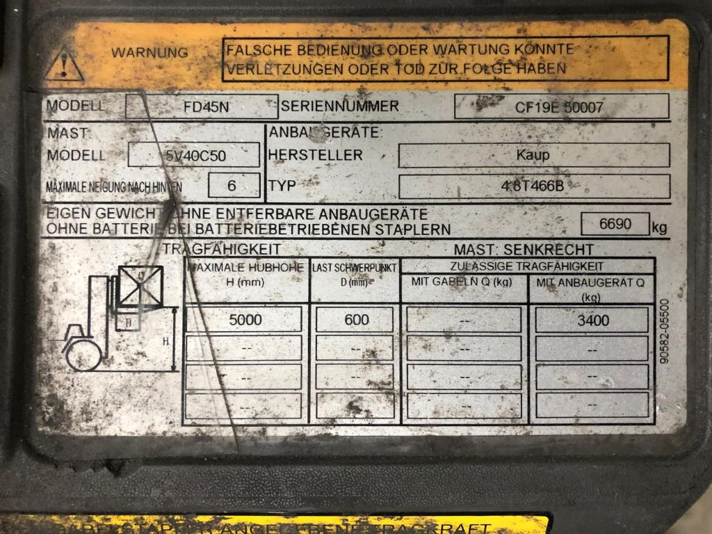 Mitsubishi-FD45N-C-Dieselstapler www.lifthandling.com