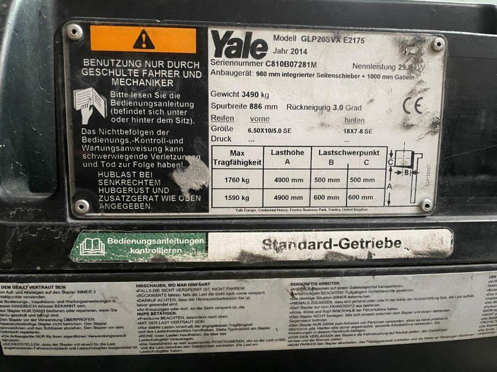 Yale-GLP20SVX-Treibgasstapler www.lifthandling.com