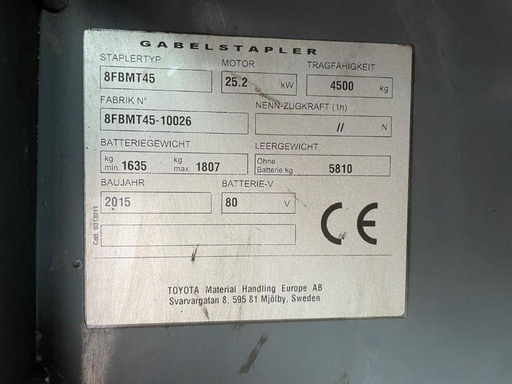 Toyota-8FBMT45-Elektro 4 Rad-Stapler www.lifthandling.com