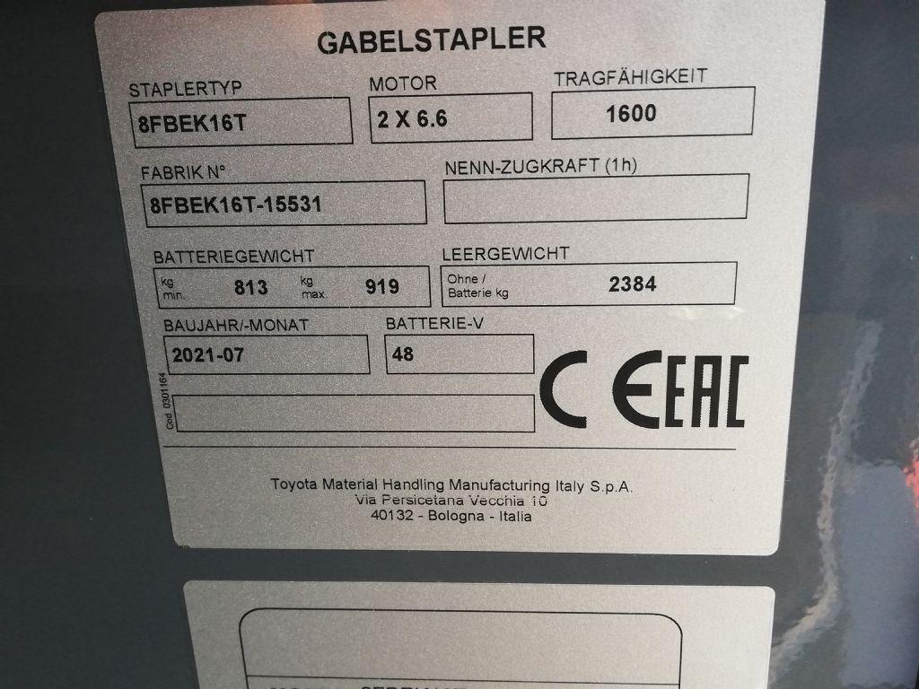 Toyota 8FBEKT16 Elektro Kompaktstapler dregab.de