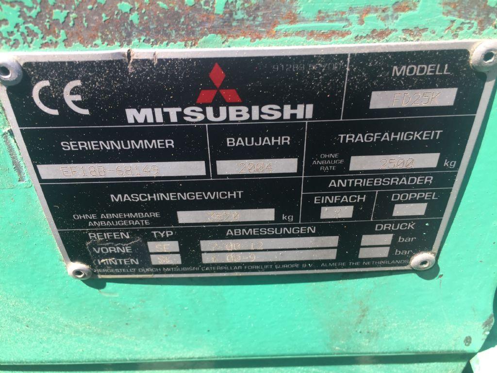 Mitsubishi-FD 25 K-Dieselstapler www.l-l-gabelstapler.de