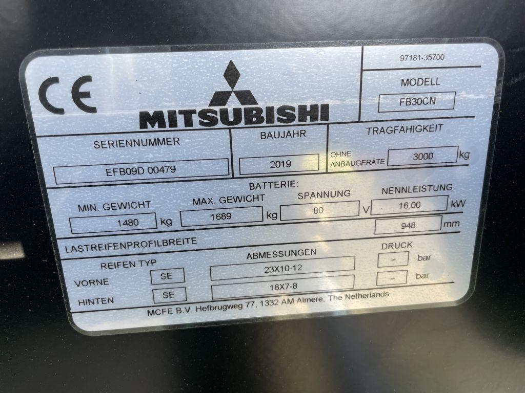 Mitsubishi-FB 30 CN-Elektro 4 Rad-Stapler www.l-l-gabelstapler.de
