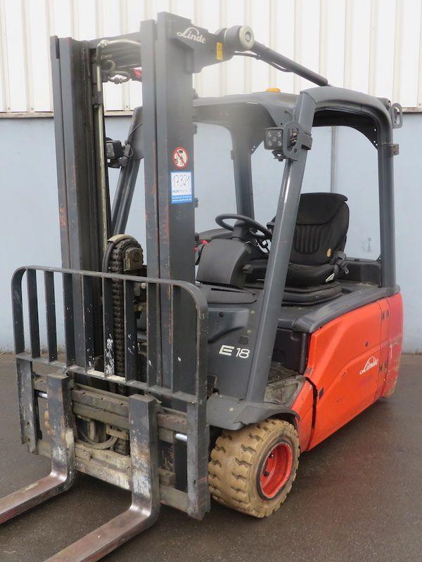 Linde E18L-386 Elektro 3 Rad-Stapler www.nortruck.de