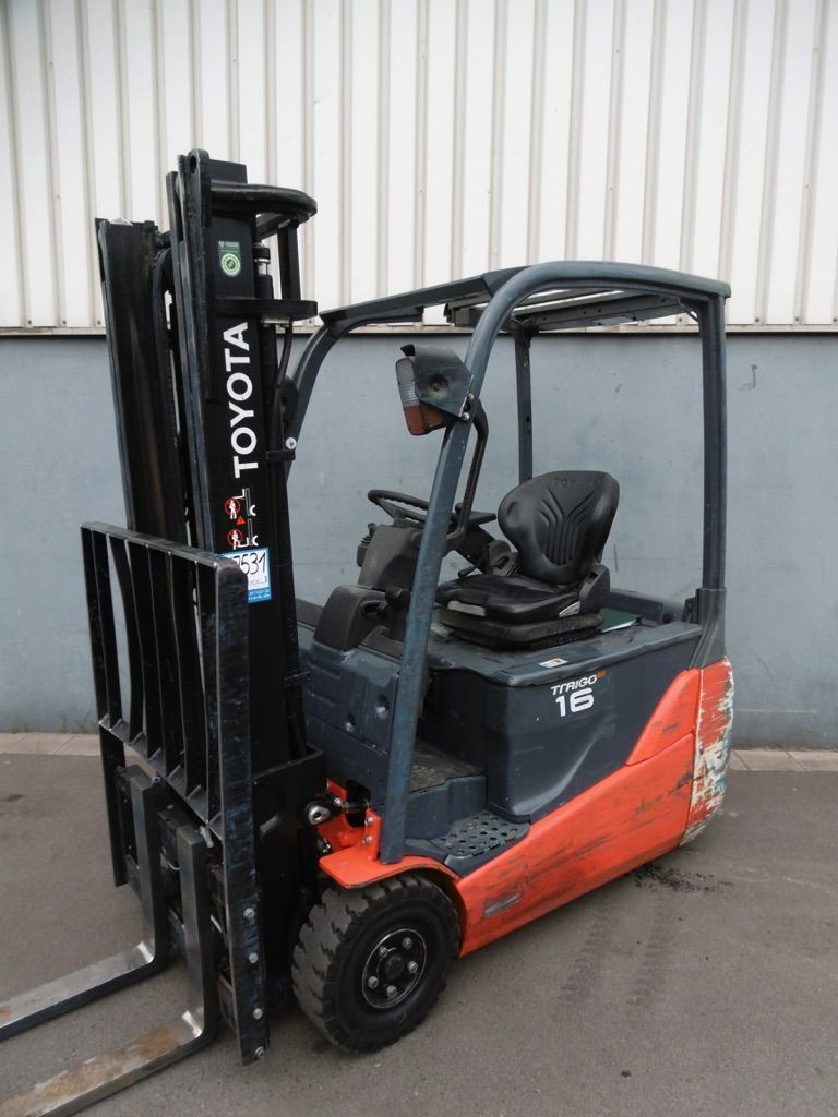 Used Toyota 8FBET16 Electric 3-wheel forklift 1600 kg| Used