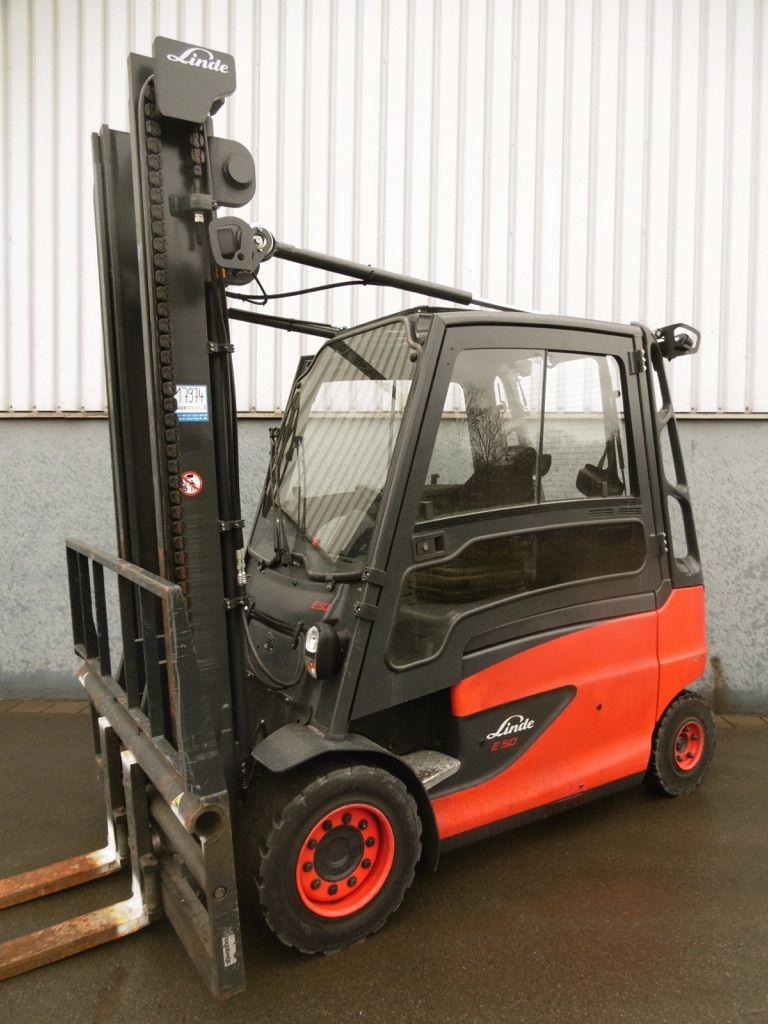 Linde E50HL-388 Elektro 4 Rad-Stapler www.nortruck.de