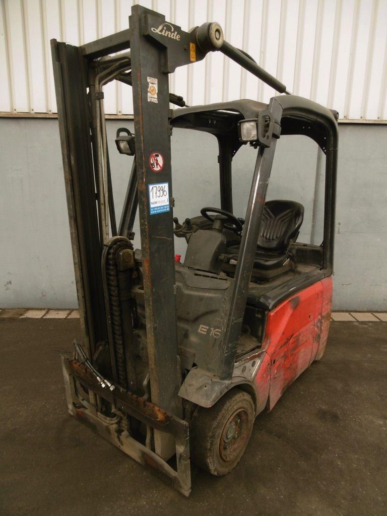 Linde E16-386 Elektro 3 Rad-Stapler www.nortruck.de
