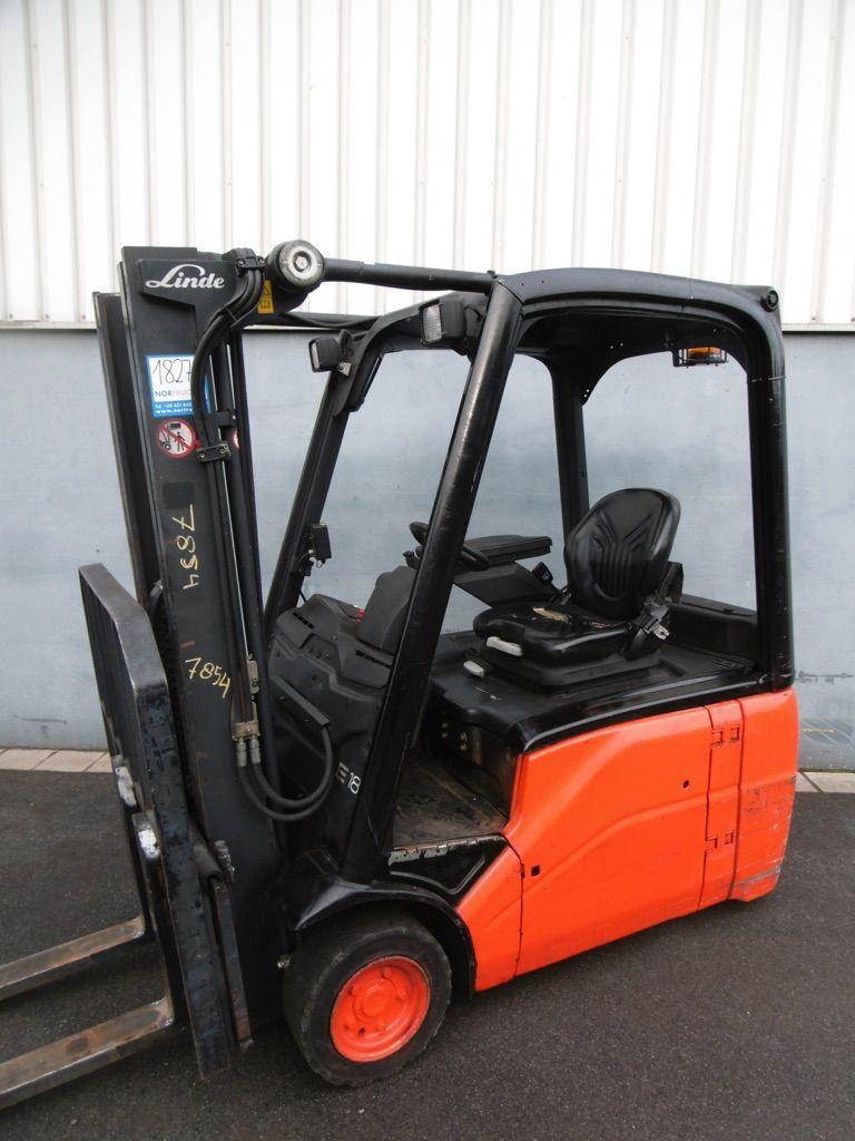 Linde E18-386 Elektro 3 Rad-Stapler www.nortruck.de