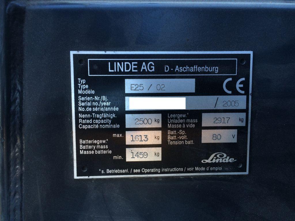 Linde-E25/02-Elektro 4 Rad-Stapler-www.staplertechnik.at