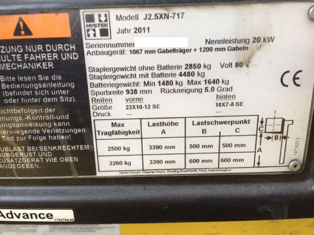 Hyster-J 2.5 XN-Elektro 4 Rad-Stapler-www.staplertechnik.at