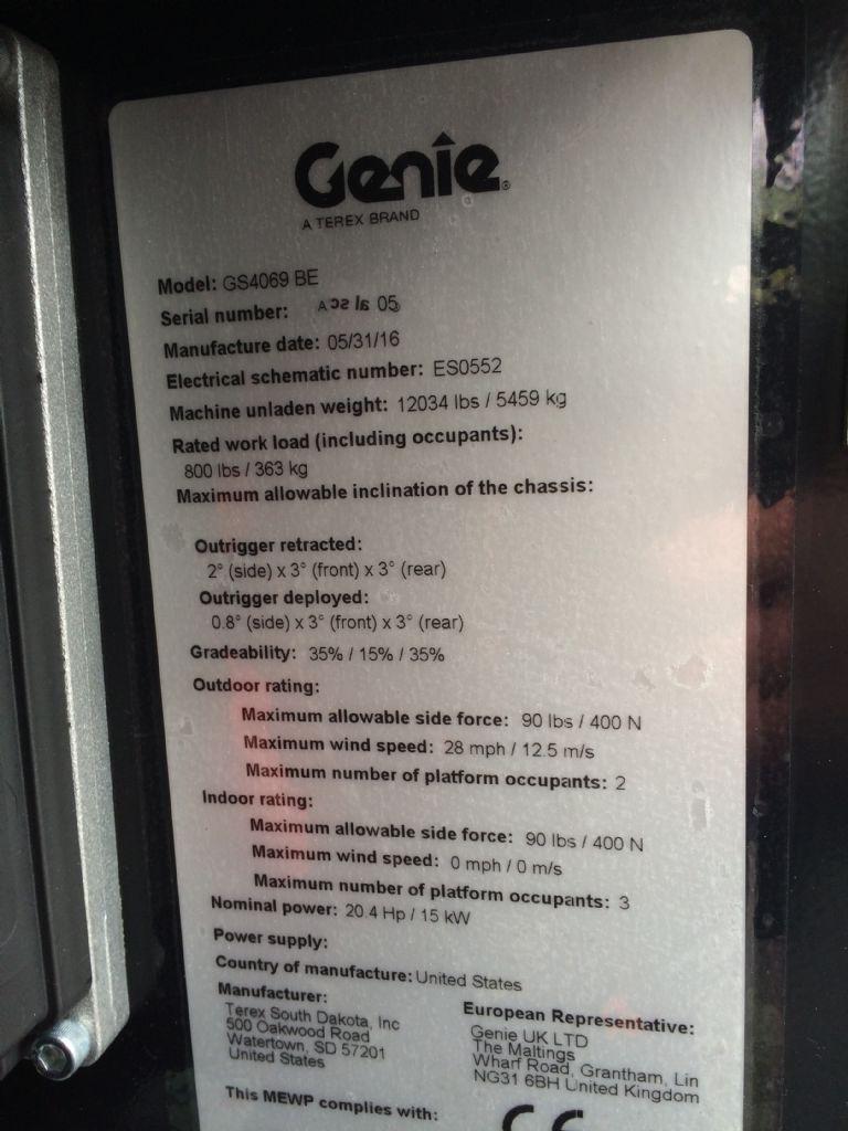 Genie-GS 4069 BE Hybrid-Scherenarbeitsbühne-www.staplertechnik.at