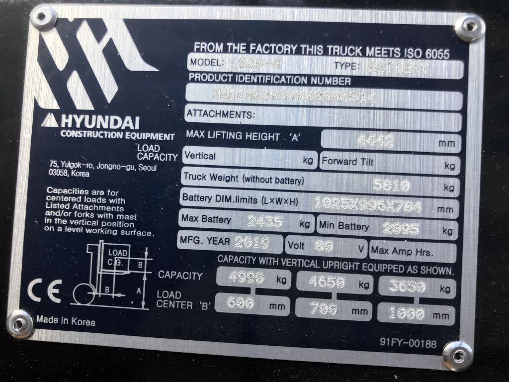 Hyundai 50B-9 Electric 4-wheel forklift www.staplertechnik.at