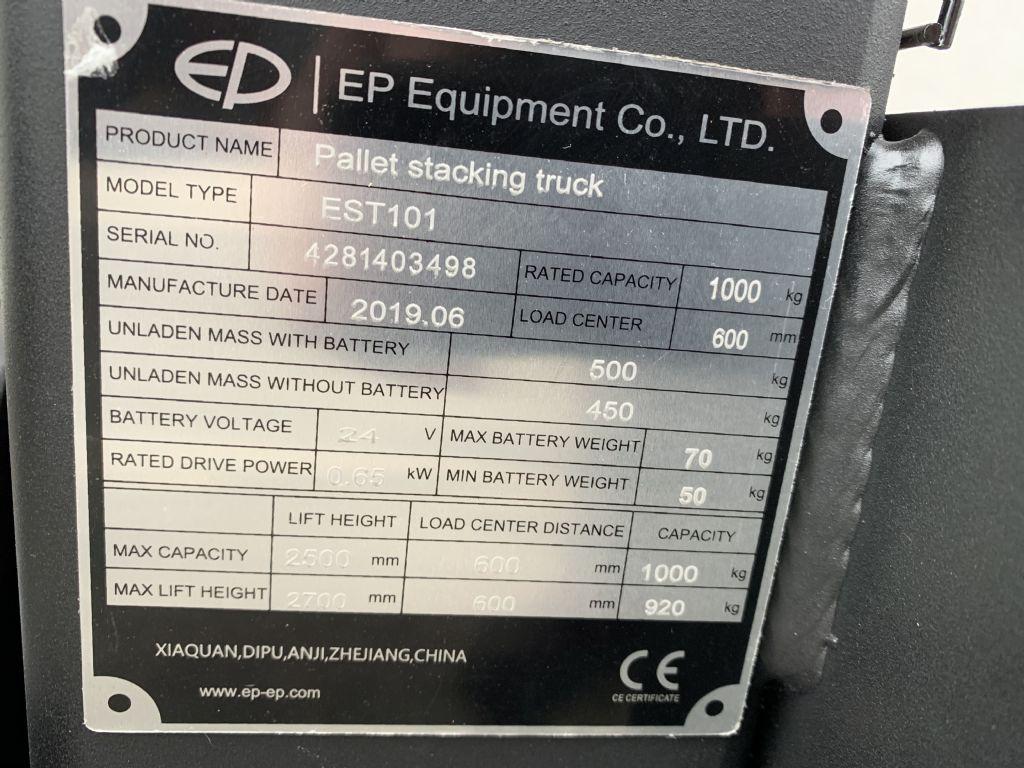EP EST101 High Lift stacker www.staplertechnik.at
