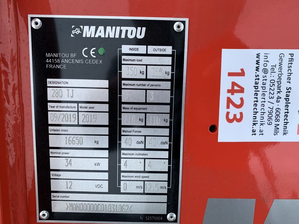 Manitou-280 TJ-Gelenkteleskopbühne-www.staplertechnik.at