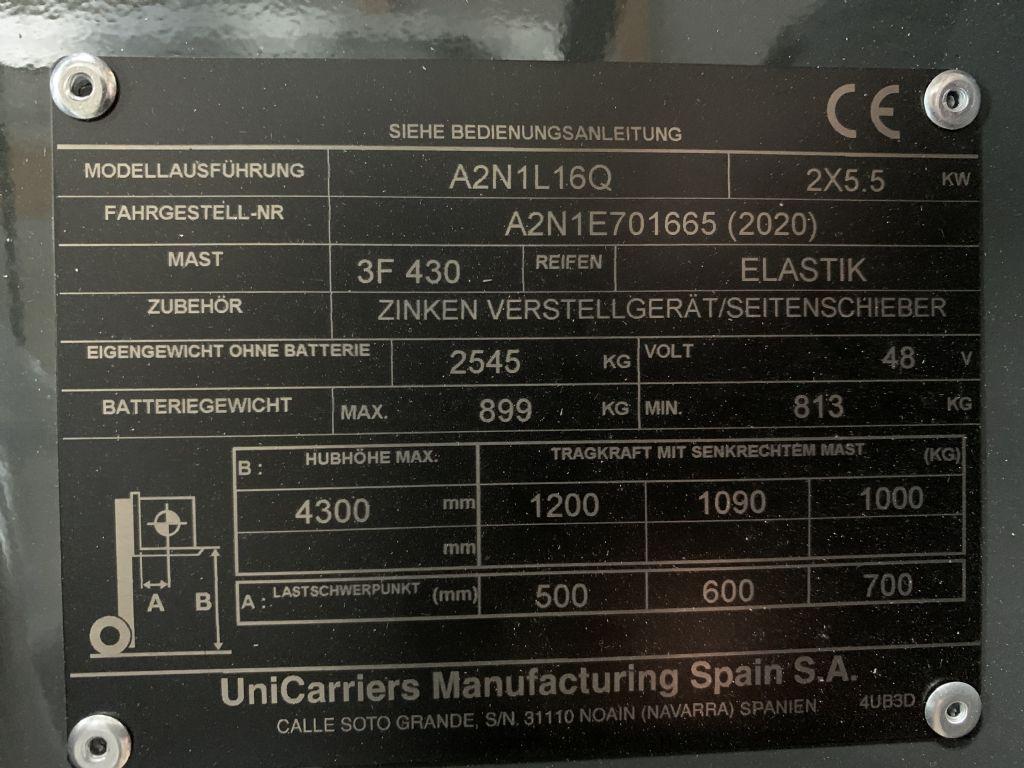 UniCarriers-A2N1L16Q-Elektro 3 Rad-Stapler-www.staplertechnik.at