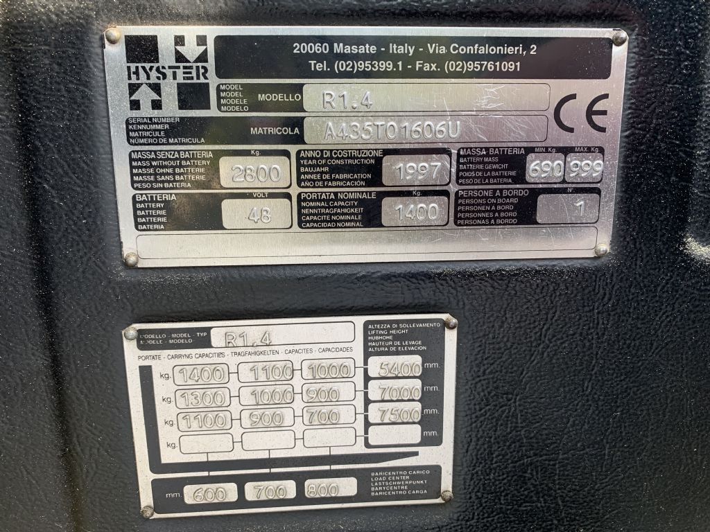 Hyster R1.4 Reach Truck www.staplertechnik.at